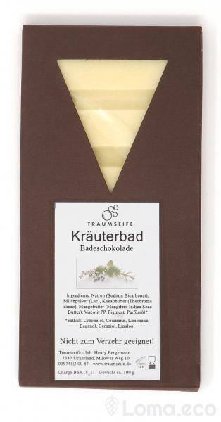 Badeschokolade Kräuterbad