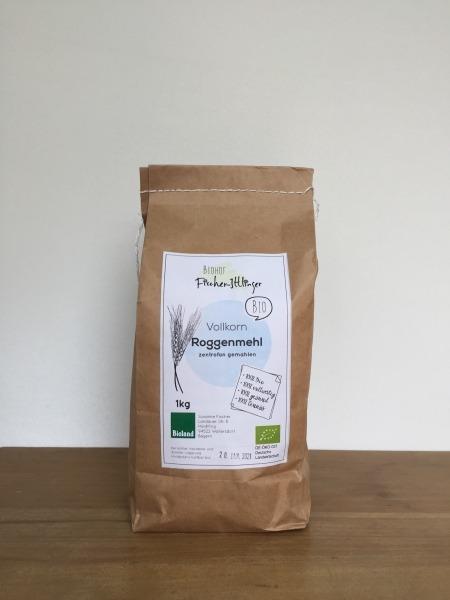 ROGGEN Bio-Vollkornmehl 1 kg | Loma.eco | Biohof Fischer-Ittlinger