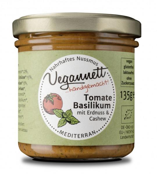 Tomatenaufstrich mit Basilikum und Nussmus