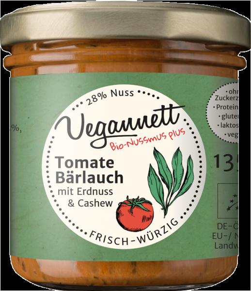 Tomate-Bärlauch Aufstrich mit Cashew- und Erdnussmus   Loma.eco   Vegannett Biomanufaktur