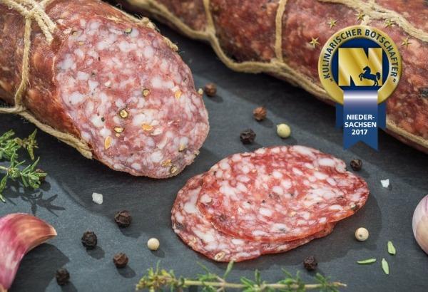 Fenchel-Salami vom Bunten Bentheimer Schwein