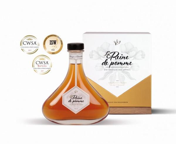 """Likörwein aus Äpfeln - """"La Reine de Pomme"""" im Luxus Karton"""