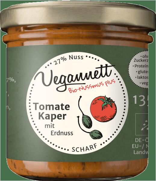 Nussmus mit Tomate, Kaper und Erdnuss
