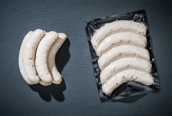 """Bratwurst """"Bärlauchgriller"""" vom Bunten Bentheimer Schwein"""