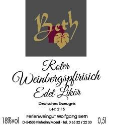Roter Weinbergspfirsich Brand