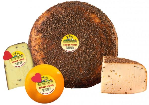 Grüner Pfeffer Käse