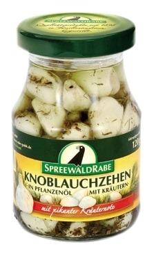 Knoblauch mit Kräutern in Öl