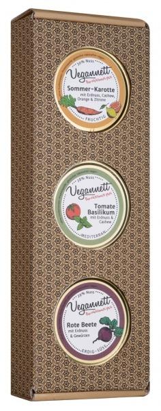 Geschenkbox Sommer-Karotte, Tomate-Basilikum und Rote Beete 3x50g