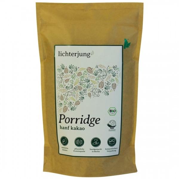 Bio Porridge aus Hanf und mit Kakao