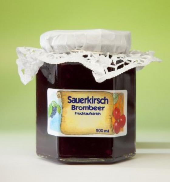 Sauerkirsch Brombeeren Marmelade
