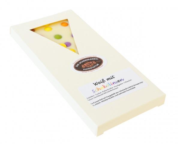 Weiße Schokolade mit Schokolinsen