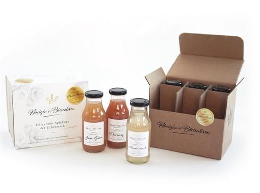 Apfelsaft Geschenkset in Designer Verpackung
