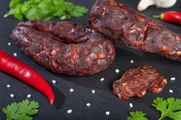 Salami vom Angus und Galloway mit Habanero-Chili