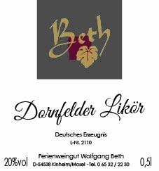 Dornfelder-Wein Likör