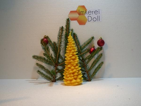 Bienenwachskerze Tannenbaum groß   Loma.eco   Imkerei & Honighandel Doll