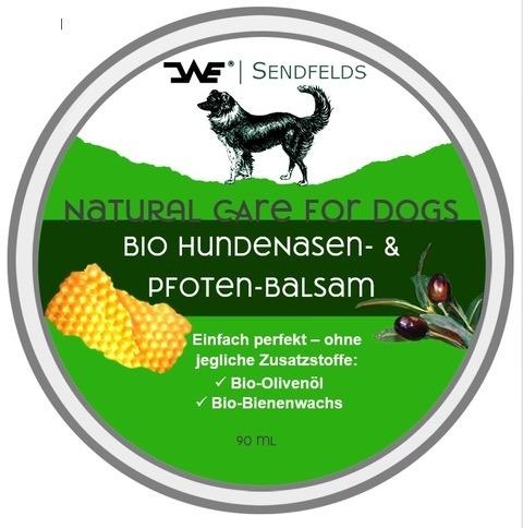 Pflegecreme für Hunde zum Auftragen auf die Nase und Pfoten | Loma.eco | Sendfelds