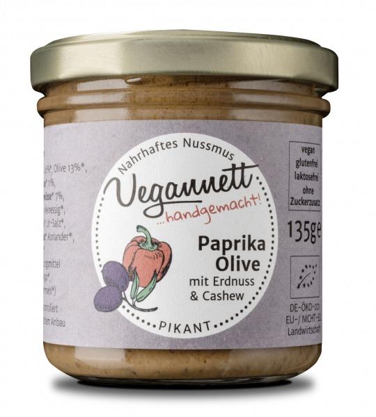 Paprika Oliven Aufstrich mit Nussmus