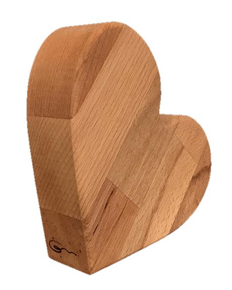 """Deko-Herz klein aus Holz """"Amelie von Goertz"""""""