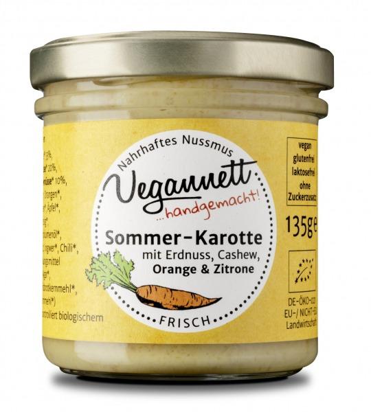 Sommerkarotte Aufstrich mit Erdnuss, Cashew Orange & Zitrone