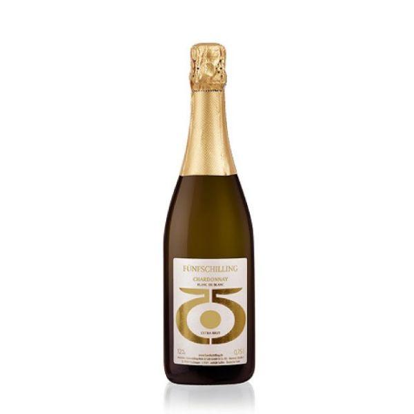 Fünfschilling Chardonnay Sekt blanc de blanc extra brut | Loma.eco | Fünfschilling Hof