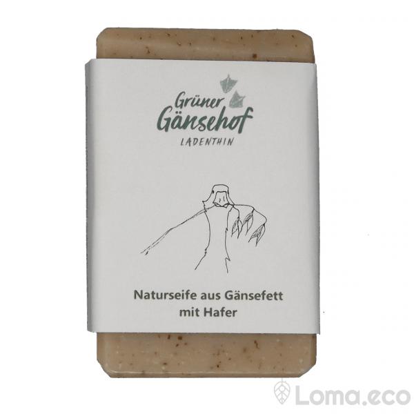 """Naturseife """"aus Gänsefett mit Hafer"""""""