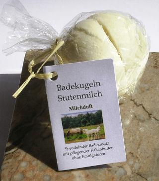 Badekugel Stutenmilch mit Milchduft