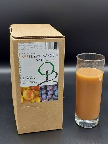 Apfel-Zwetschgensaft 3 l | Loma.eco | Obsthof Drechsle