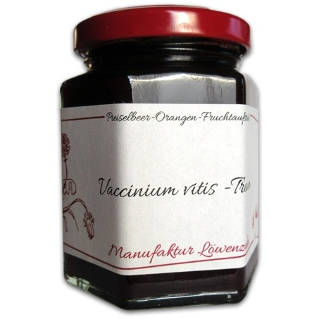 """Fruchtaufstrich Preiselbeer-Orangen """"Vaccinium vitis-idaea"""""""