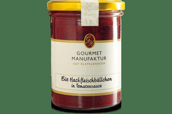 """Hackfleischbällchen- """"Bio Hackfleischbällchen in Tomatensoße"""" zubereitet"""
